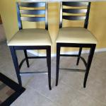 "Designer Wood & Leather 30"" Barstools. NOW ONLY $240"