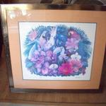 "Artist Signed & Numbered #128 Tropical Art. Measures 40""x36"".   NOW ONLY $135"